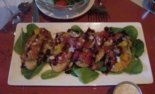 The appetizers at Il Maestro Ristorante, on Long Pond Road in Plymouth, include an ample portion of bruschetta.