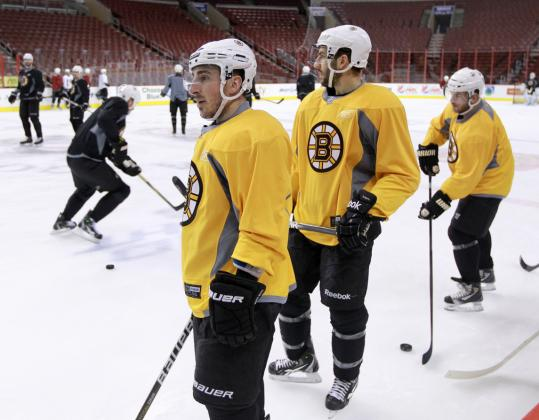The Bruins' struggles on the power play in the playoffs haven't been for lack of practice.
