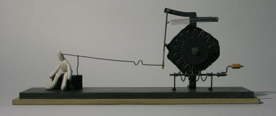 "At the Cyberarts Festival, Arthur Ganson's kinetic sculpture ""The First Noble Truth.''"