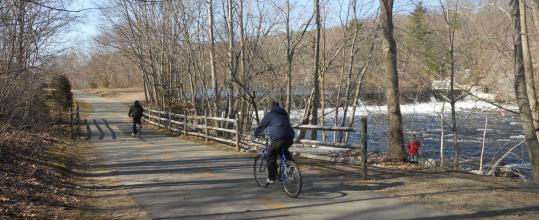The Blackstone River Bikeway offers 17 miles for riding.