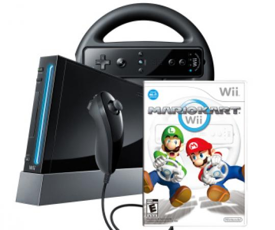 The lower priced Wii will come in black or white.