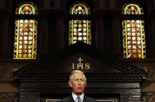 "A PRINCELY MESSAGE — Prince Charles of Britain was keynote speaker yesterday at a conference titled ""The Future of Food'' at Georgetown University. ""The world is gradually waking up to the fact that creating sustainable food systems will become paramount in the future because of the challenges facing food production,'' he said."