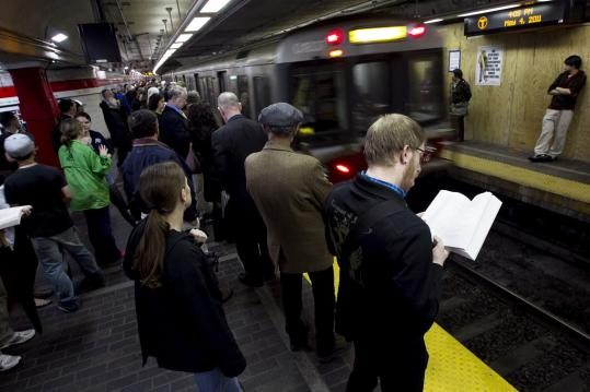 Ridership on the Red, Orange, and Blue lines grew 6.9 percent in March, compared with last March, to 516,000 per weekday. The Green Line saw a 7.7 percent surge, to 227,900 daily.