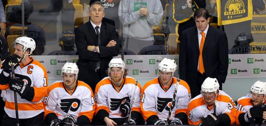 As time wound down in the third period last night, the expressions on the Philadelphia bench told the story of the game — another disappointing loss.