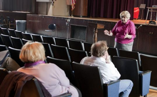 Marie Ardito of Massachusetts Retirees United led a recent seminar on retirement planning for Somerville schoolteachers.