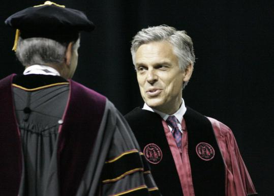 Jon Huntsman, the former ambassador to China, addressed graduates at the University of South Carolina yesterday.
