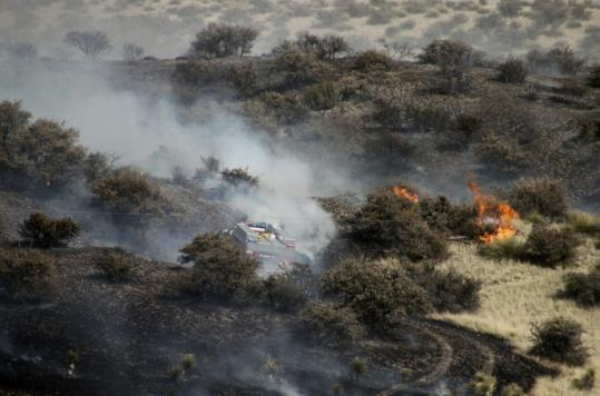 A fire burned earlier this year in New Mexico, where some 400 blazes have already scorched 315,000 acres. Western states are gearing up for what is forecast as a bad fire season.