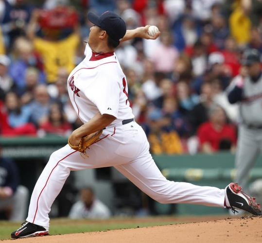 Daisuke Matsuzaka had trouble in the first, allowing three runs, but gave up only one more run over his final five frames.
