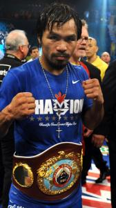 Manny Pacquiao retained his welterweight belt by pounding Shane Mosley.