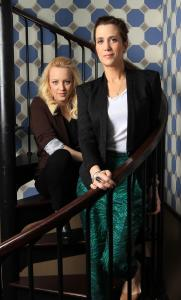 """We just sat down and wrote something that made us laugh . . . and that had a lot of women in it, which is rarer than it should be,'' says Kristen Wiig (right, with Wendi McLendon-Covey) recently at the Liberty Hotel."