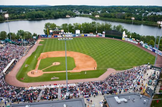 LeLacheur Park on the banks of the Merrimack River in Lowell is home to the Lowell Spinners of the New York-Penn League and the Division 2 University of Massachusetts Lowell River Hawks.