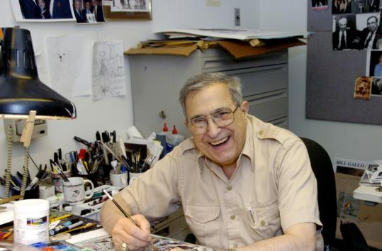 From age 5 on, Bill Gallo aspired to be a cartoonist and never left the house without a crayon and a bit of scratch paper.