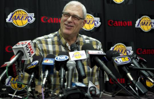 In a farewell news conference, Lakers coach Phil Jackson left only the slightest doubt that he would ever return to an NBA bench.