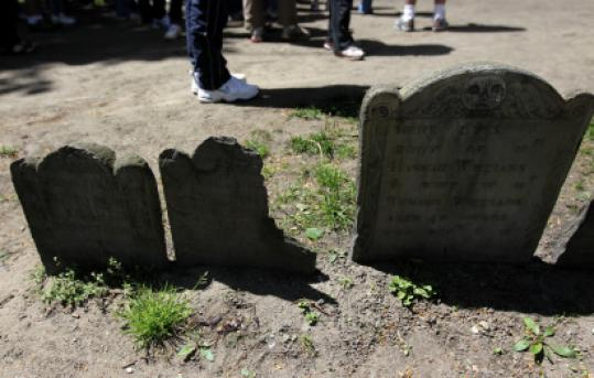Paul Revere is among the historic figures buried in the Granary yard.