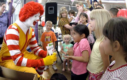 Ronald McDonald has found himself in the middle of a policy debate between health advocates and the fast food industry they say has contributed to childhood obesity.