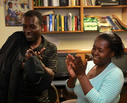 Facile Polynice and Marie Loucie were cheered by the news in Mattapan. Advocates for immigrants also applauded the news yesterday. Massachusetts is home to the third-largest Haitian community in the United States.