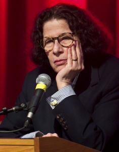Fran Lebowitz answered questions at the Coolidge Corner Theatre Monday.