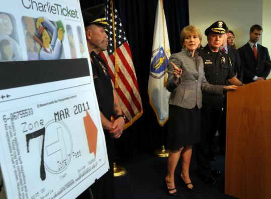 MBTA Police Chief Paul MacMillan and Attorney General Martha Coakley announced the arrest of Andres Townes on