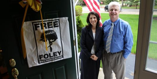Diane and John Foley of Rochester, N.H., parents of GlobalPost journalist James Foley (left).