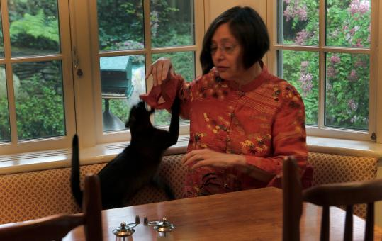 Helen Berger consulted an animal behaviorist to understand why her cat, Teddy, was scratching and biting her. They now get along much better.
