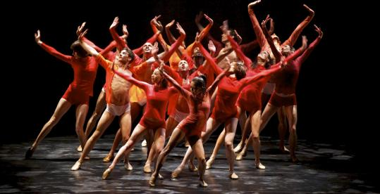 Complexions Contemporary Ballet dancers performed their closer, ''Rise,'' at the Cutler Majestic Theatre in Boston.