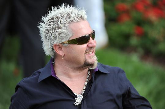 Celebrity chef Guy Fieri says sticking with a simple, low-cost menu doesn't mean a party can't be fun.