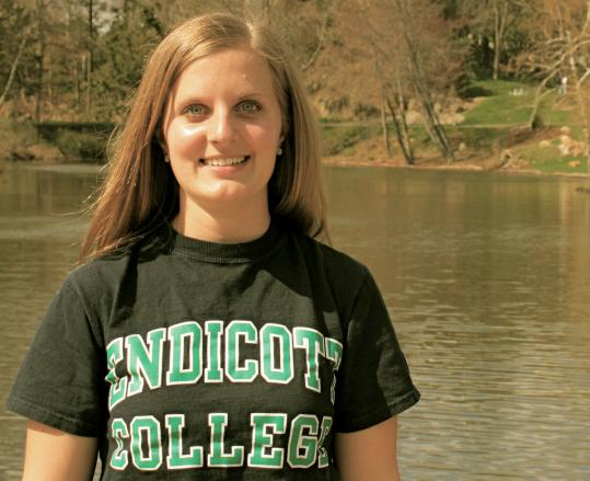Endicott College graduate Annie Bolton, 21, took up a challenge to get involved at school.
