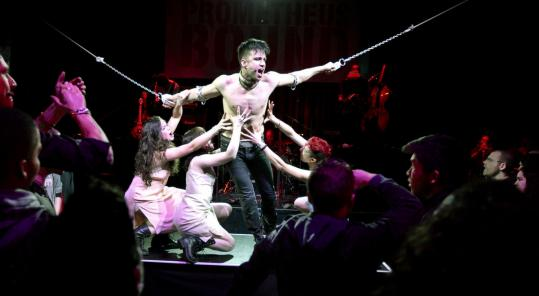 """Among the winners at the Elliot Norton Awards last night were (clockwise from top) American Repertory Theater's """"Prometheus Bound,'' SpeakEasy Stage Company's """"In the Next Room (or the Vibrator Play),'' and Huntington Theatre Company's """"Ruined.''"""