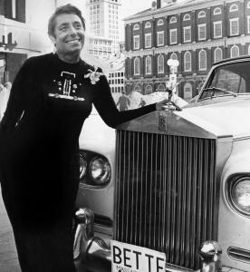Bette Arnold kept a convertible Rolls parked illegally out front while she ran Bette's Rolls Royce restaurant near Faneuil Hall.