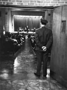 The 1951 debate between Norfolk inmates and Oxford was held in the prison's auditorium.