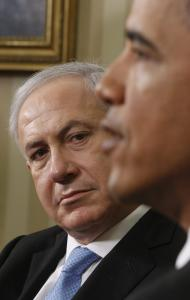 Israeli Prime Minister Benjamin Netanyahu meets with President Obama at the White House.