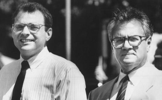 Herb Moses (left) departed the mortgage giant Fannie Mae in 1998, the year he and Representative Barney Frank split up.