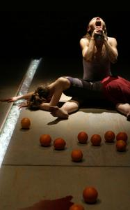"Ditte Berkeley and Kamila Klamut in ""Caesarean Section,'' created by Teatr Zar."