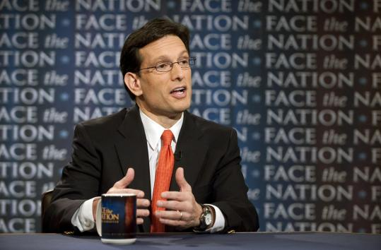 "House majority leader Eric Cantor said Sunday: ""We've said, as Republicans, we're not going to go for tax increases.''"