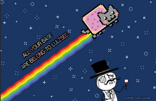 "This image appeared on the hacked PBS website. A group called LulzSec and ""The Lulz Boat'' claimed responsibility"