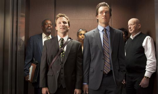Breckin Meyer (left) and Mark-Paul Gosselaar in TNT's frat-boy-like courtroom drama ''Franklin & Bash.''