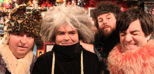From left: Dale Crover, Buzz Osborne, Jared Warren, and Coady Willis will play five Melvins albums over two shows at the Paradise.