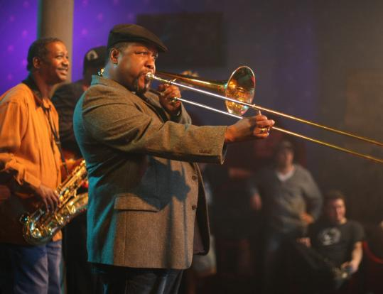 "Wendell Pierce in one of the musical performances in the HBO drama ""Treme.''"