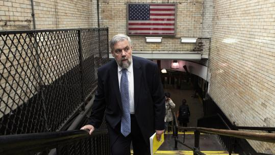 "Bill James (at the Boylston Street T station), who is best known for publishing ""The Bill James Historical Baseball Abstract,'' reexamines infamous murders in ""Popular Crime: Reflections on the Celebration of Violence.''"