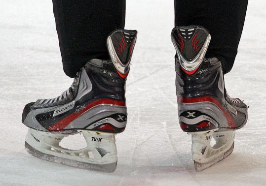 Bauer's Vapor APX skates, worn by Bruin Tyler Seguin, are 12 percent lighter than Bauer's previous model.
