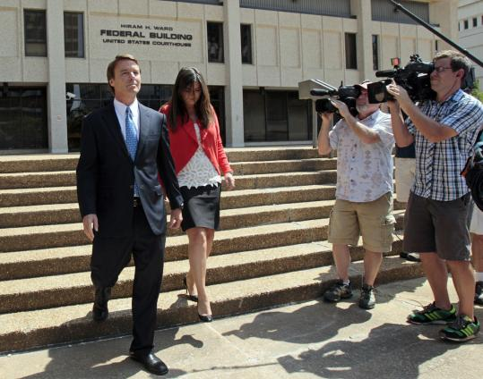 John Edwards insists that he did not break the law. He left a Winston-Salem, N.C., courthouse Friday with his daughter Cate. One observer says the case may be tossed before it goes to trial.