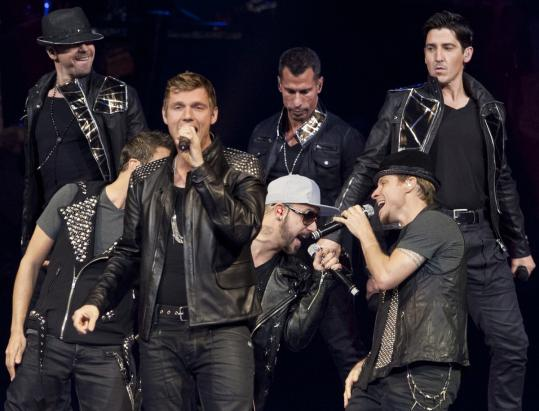 The Backstreet Boys and New Kids on the Block relished every moment on stage last night.