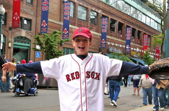 Sam Maden, 12, an avid Red Sox fan, recruited the team for 'It Gets Better' to help gay youth.
