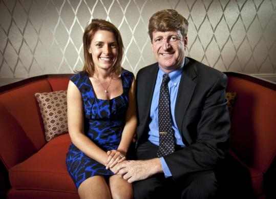 Friends of Patrick Kennedy credit his fiancee, Amy Petitgout, for part of the former representative's transformation and newfound happiness.