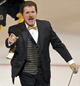 The song may remain the same, but Rene Rancourt never fails to get pumped when performing the national anthem.