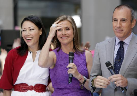 "From left: Ann Curry, Meredith Vieira, and Matt Lauer appear last month during a segment of NBC's ""Today'' show."