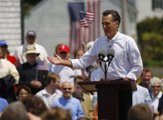 The emphasis was on connecting with average people when Mitt Romney announced this month in Stratham, N.H., that he is a candidate for 2012.