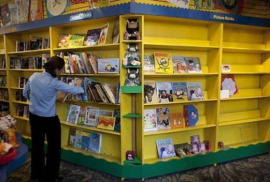 The shelves of Curious George & Friends in Harvard Square in Cambridge are emptying quickly as the store prepares to close, probably within the next month.