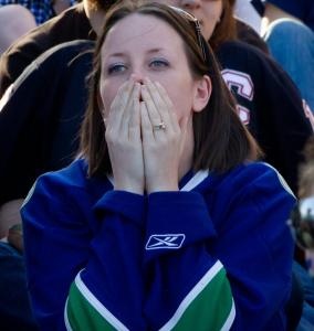 One Canucks supporter was horrified by the 8-1 outcome.