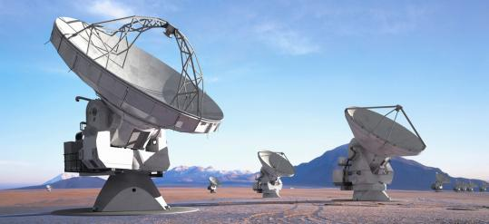 Radio telescopes in Chile's Atacama Desert in a scene from the documentary 'Nostalgia for the Light.'